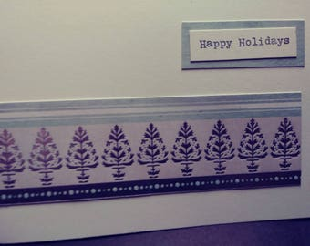 Wintry Happy Holiday Cards