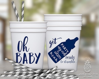 Baby Shower Cups | Personalized Plastic Cup | Monogram Cups | Baby Party Favor Cups | Party Cups | social graces and Co.