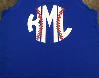 Monogram Baseball Tank Top