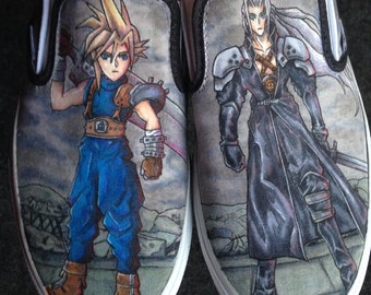 Final Fantasy 7 Custom Shoes