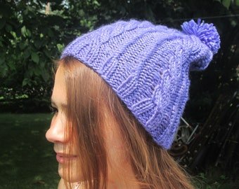 Purple Slouch Hat