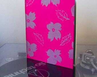 Grey Flowers Hardcover Sketchbook // Handmade Sketchbook // Hardbound Journal // Gifts for Artists // Poppies Flowers