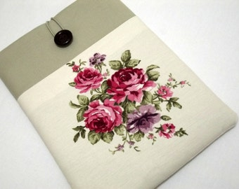 ipad mini 3 sleeve, 7 inch iPad Mini 4 Sleeve iPad Mini 4 Case Padded with Pocket iPad Mini 3 Cover- Floral