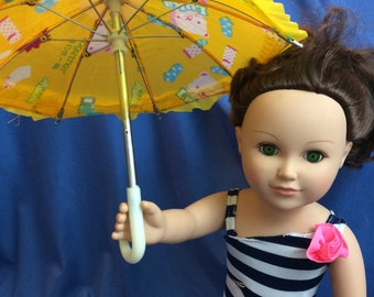 18 inch doll Umbrella!   fits my life, American Girl, others. 18 inch doll accessories, Spring