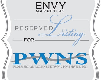 Graphic Design Services, Freelance Graphic Design, Logo design, Reserved Listing for Professional Women's Network For Service, Inc of Racine