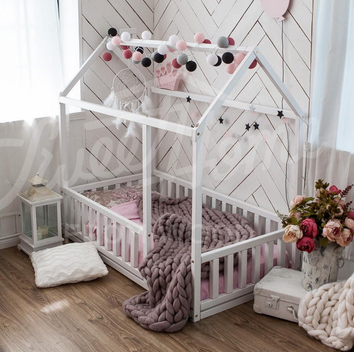 children bed full double toddler bed baby toy room house. Black Bedroom Furniture Sets. Home Design Ideas