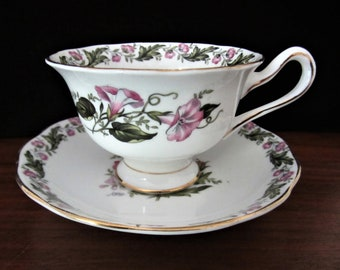 Royal Albert Cotswold Bone China Floral Tea Cup And Saucer Set. Made In England