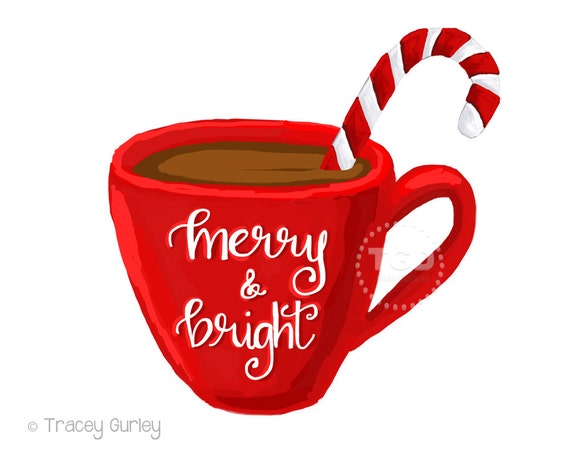 merry and bright hot cocoa clipart coffee cup clipart calligraphy rh etsystudio com clip art coffee cup images clip art coffee cup cartoon