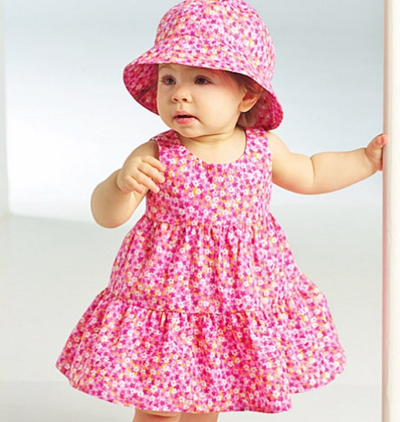 Toddler Sundress Pattern, Baby Girls\' Dress Pattern, Top and Pants ...
