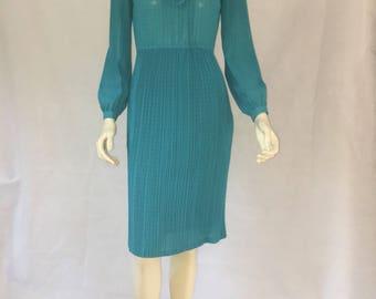 1940s Teal dress