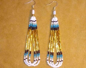 Pow Wow Bugle Earrings