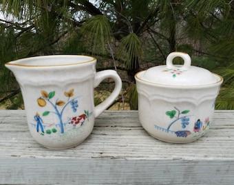 Heartland Creamer & Lidded Sugar Bowl by International China
