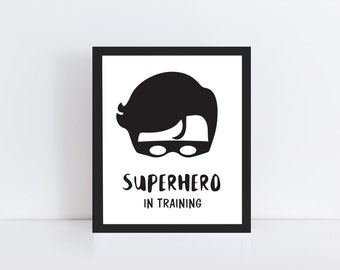 Superhero Print - Superhero Wall Print - Superhero Nursery Art - Superhero Printable Art - Superhero Wall Art - Superhero Poster