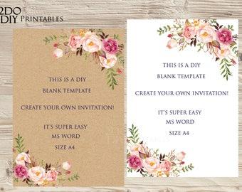 wedding invitations blank templates