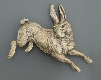 Vintage Brooch - Brass Brooch - Bunny Jewelry - Rabbit Jewelry - Chloe's Vintage Jewelry - handmade jewelry