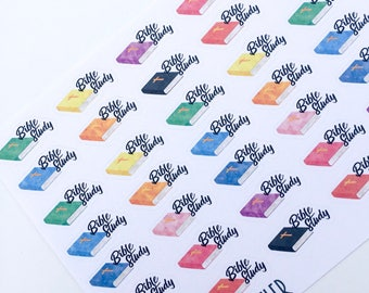F139--Bible Study Planner Stickers for the Erin Condren ECLP or Happy Planner. Planning church small group