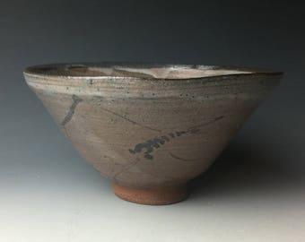 Brush Decorated Karatsu Tea Bowl