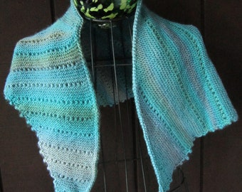 Hand Knitted Asymmetrical Shawl