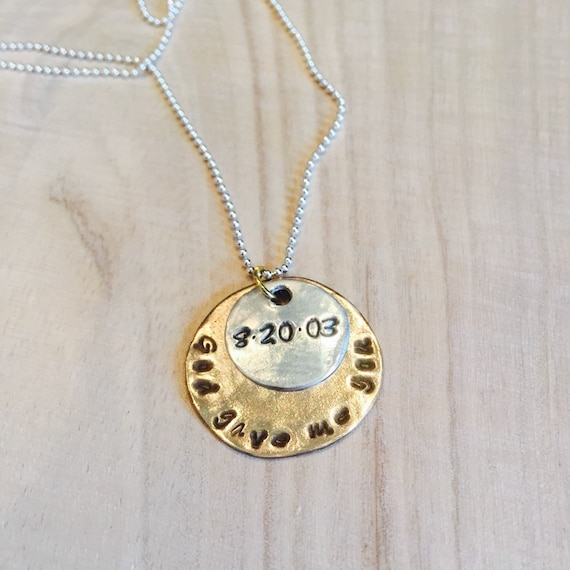 God Gave Me You Necklace, Personalized Necklace, Newborn Necklace, Adoption Necklace, Mother's Necklace