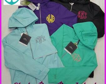 Monogrammed Rain Jacket, FREE LEFT CHEST,Monogram Rain Jacket,Rain Jacket,Rain Jacket Monogram,Hooded Rain Jacket,Charles River - Rj01