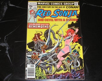 Red Sonja #7 1978 Throne Of Blood Good Condition
