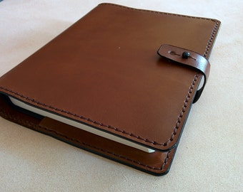 ESV Journaling Bible with Handmade Leather Cover - Brown-Made in the USA