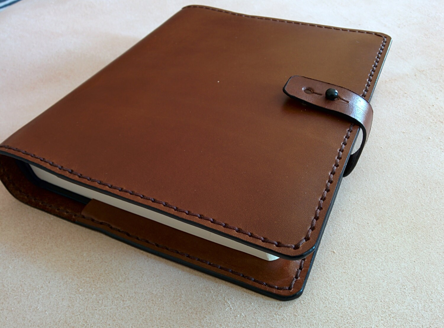 Leather Covered Book : Esv journaling bible with handmade leather cover brown made