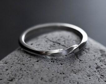 Triple Twist Silver Ring