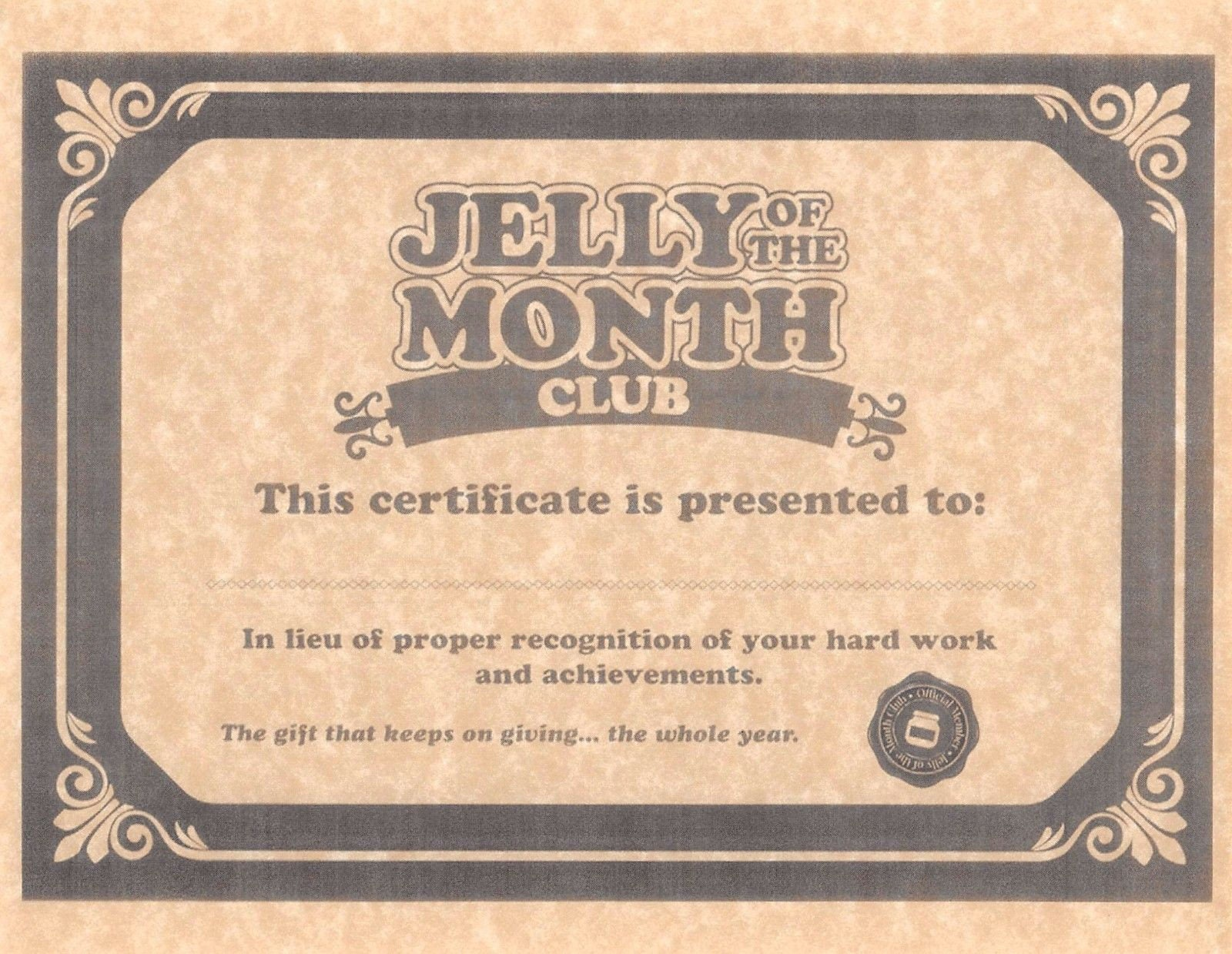 National lampoons christmas vacation jelly of the description national lampoons christmas vacation jelly of the month club certificate 1betcityfo Images