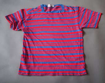 Vintage 1960s Striped Surfer  T Shirt