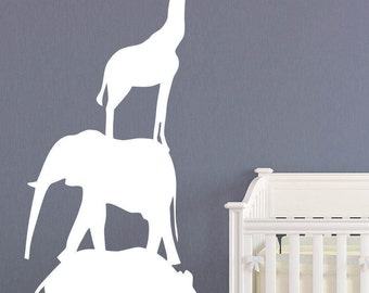 Zoo Animal Decal Etsy - Zoo animal wall decals