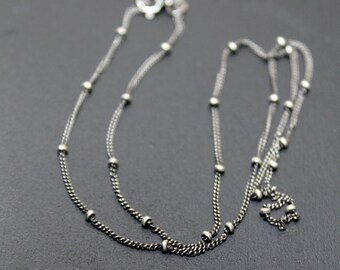 """Satellite Chain Necklace 20"""" Sterling Silver"""