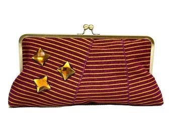 Statement Clutch, Maroon clutch, Aso Oke Clutch, Elegant clutch, evening bag, large clutch bag, Luxury Gift, Blinged clutch, Clutch bag