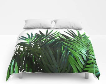 PALMERA COMFORTER Twin/Twin XL/Double/Full/Queen/King Palm Tree Leaves Tropical PlantBlanket Bedding Bedroom Bed Home Decor Home and Living