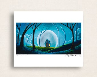 Sleepy Hollow - whimsical moonlit night - Limited Edition Signed 8x10 Print (10/20)