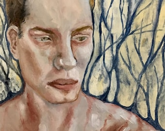 Vein- Oil painting, portrait, forest, landscape