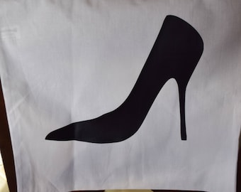 Stiletto Heel Canvas Bag