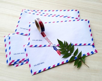 Airmail Envelope Set, Japanese Stationery, Letter Writing, Writing Papers And Envelopes, Snail Mail Supplies