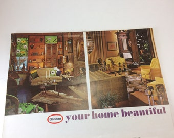 60s Fashion Home Decor Glidden Sherwin Williams paint catalogs vintage Womans Day magazine