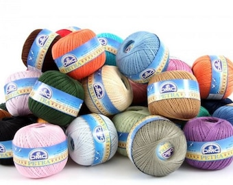 DMC Petra Crochet Thread - Yarn No.3 - No.5 - No.8 100g