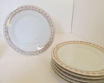 SIX (6) Zeh Scherzer BAVARIA bread n butter plates