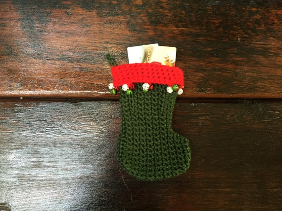 Mini Weihnachts-Strumpf häkeln Häkeln Strumpf