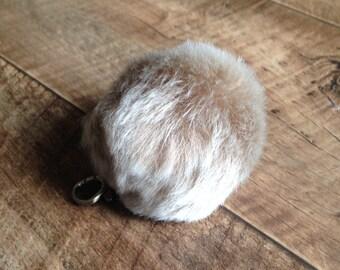 Cute Genuine Rabbit fur ball pom pom keychain for car key ring Bag Pendant - Lucky Irish Charm