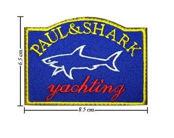 Free shipping Paul & Shark Iron On PATCH 6.5x8.5 cm