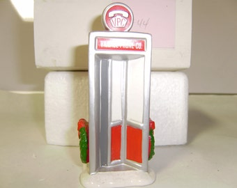 Department 56,Snow Village,ceramic collectible,VILLAGE PHONE Booth