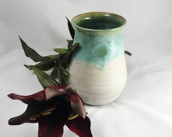 Pottery vase, flower vase, kitchen caddy, dry or fresh flower vase, ceramic vase