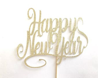 Happy New Year Cake Topper, New Year Cake Topper,  New Year Party Decor, New Year Topper, 2018 Cake Topper, New Years, New Year, Cake Topper