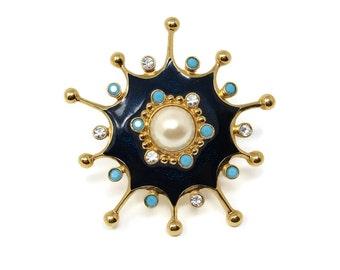 Jose Barrera for Avon Roman Holiday Brooch, Starburst Pendant Brooch