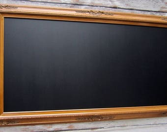 "Large OAK FRAMED CHALKBOARD Dining Room Decor Magnetic Blackboard Baroque Framed Chalk board - ExTRA LaRGE - 56""x32"" Office Long and Narrow"