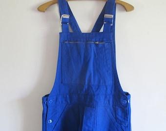 Vintage Français Workwear salopette bleu coton salopette sanforisé / / nouvelle provenant d'un ancien stock
